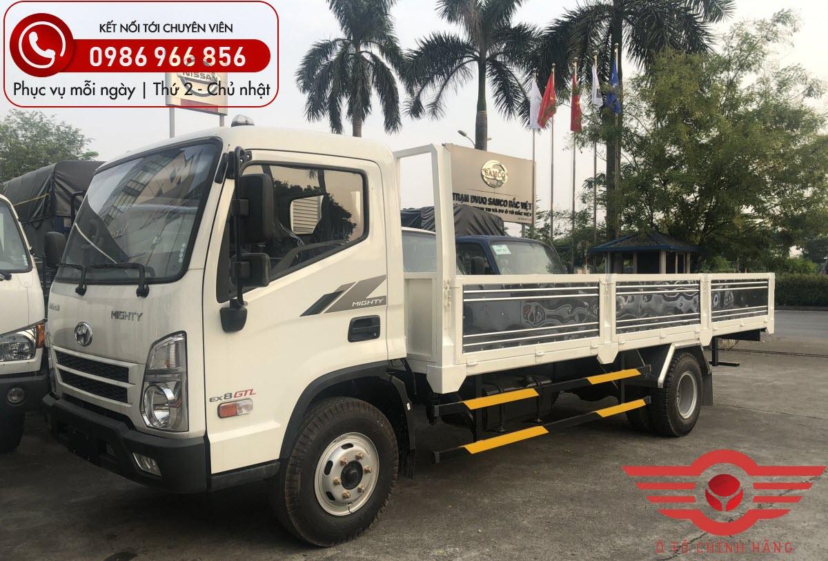 Xe tải Hyundai Mighty EX8 GTL Thùng Lửng 7.4 Tấn