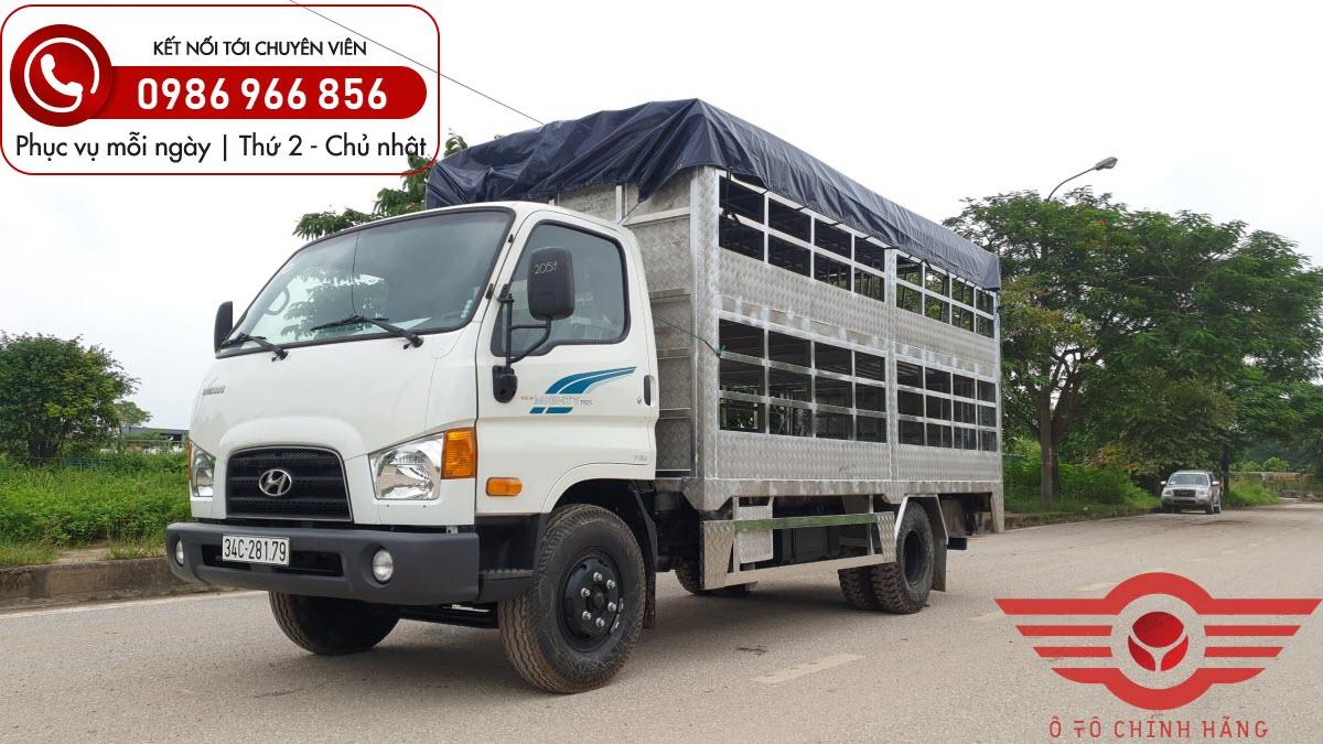 Xe tải Hyundai New Mighty 110SP 7 Tấn Chở Lợn 2 Tầng