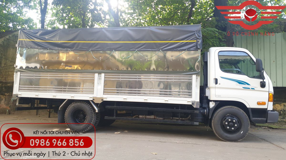 Xe tải Hyundai New Mighty 110SP Thùng Mui Bạt