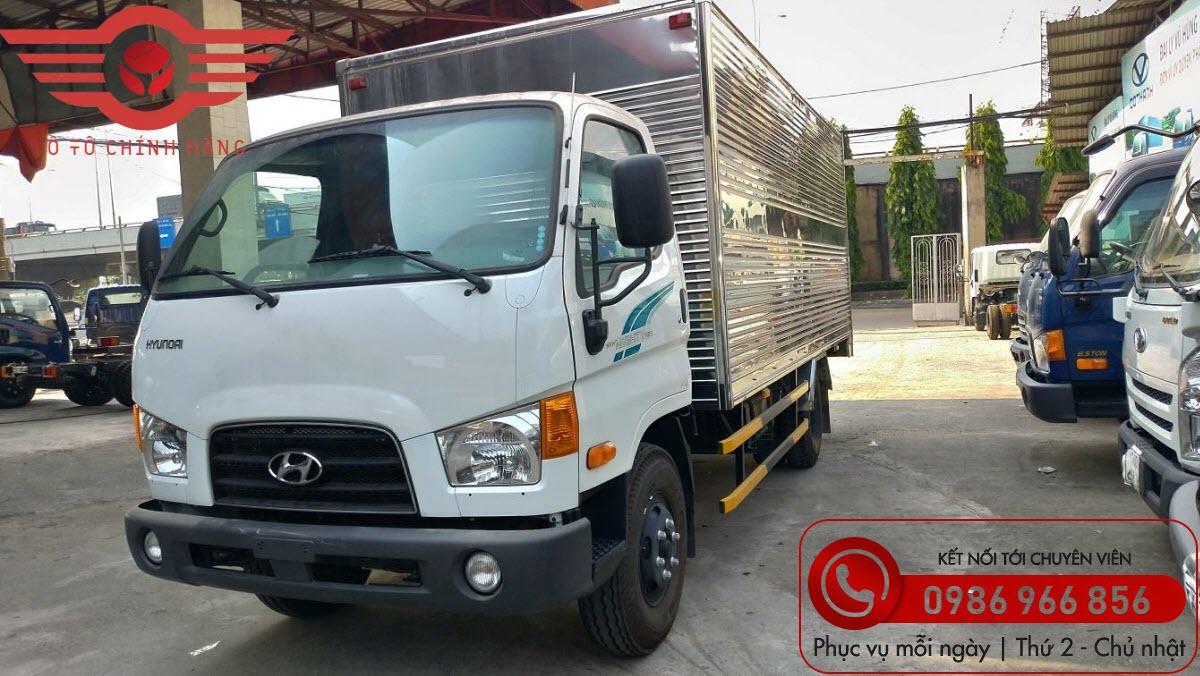 Xe tải Hyundai new mighty 110sp thùng kín