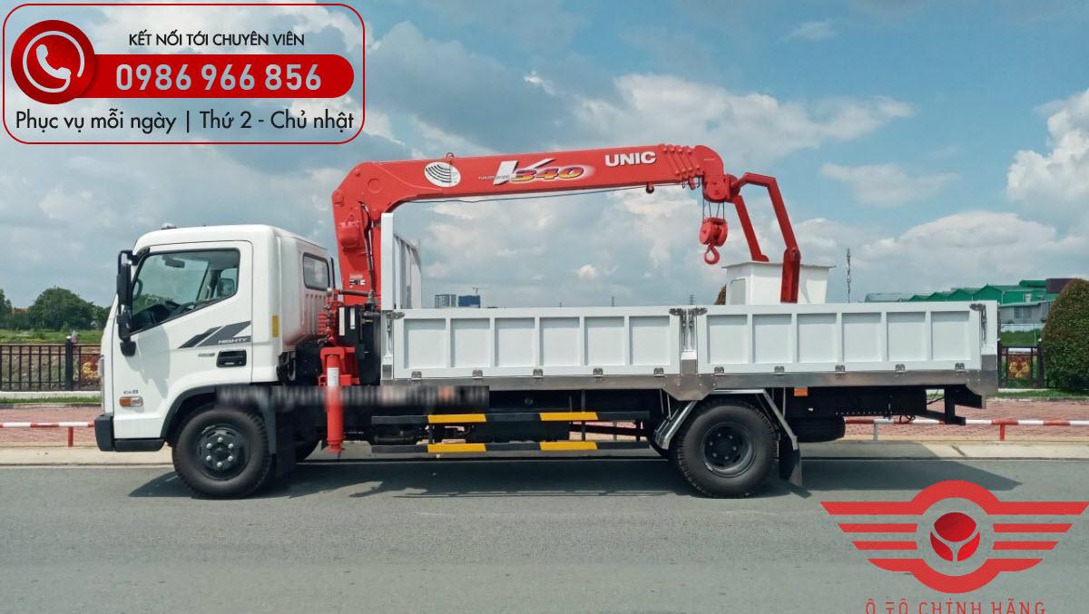 Xe tải Hyundai EX8 GTL Gắn Cẩu UNIC 3 Tấn