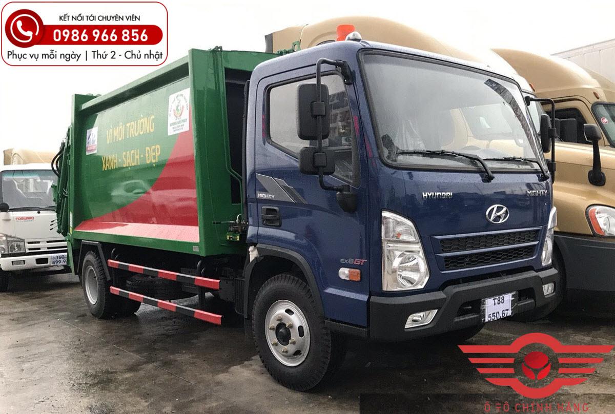 Xe cuốn ép chở rác 10 khối Hyundai EX8 GT