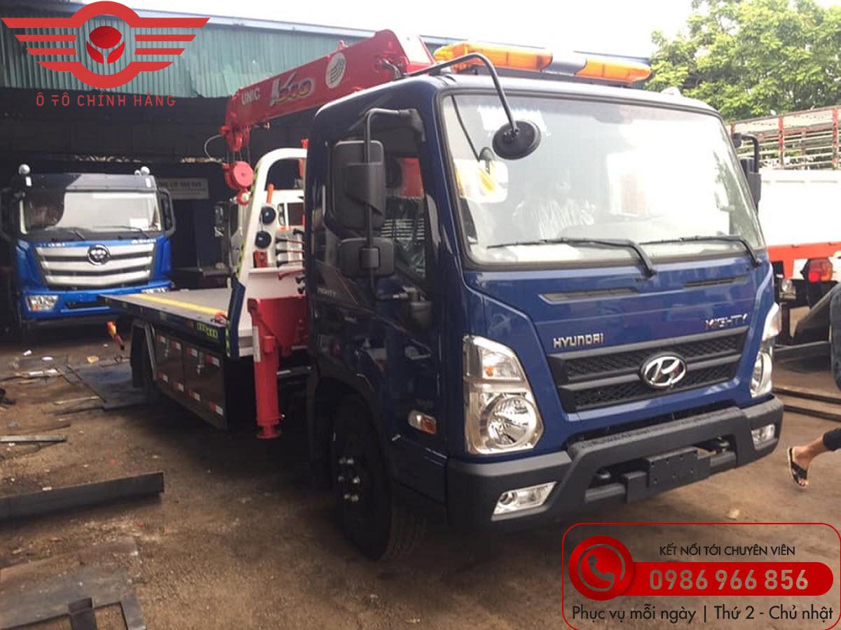 Xe tải Hyundai EX8L Cứu Hộ Giao Thông Sàn Trượt Gắn Cẩu