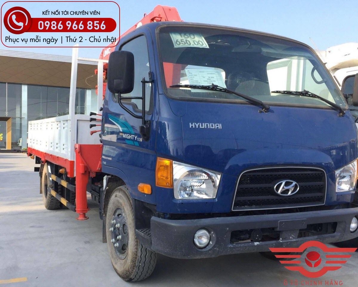 Xe tải Hyundai New Mighty 110SL Gắn Cẩu UNIC 3 Tấn
