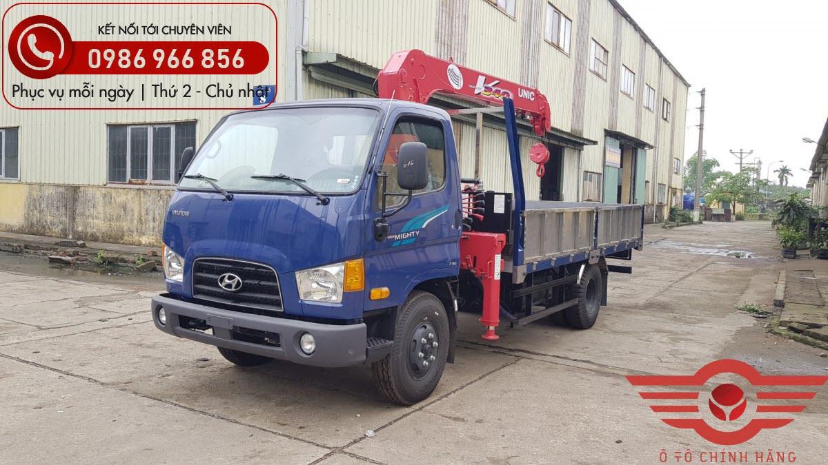 Xe tải Hyundai New Mighty 110XL gắn cẩu UNIC 3 Tấn