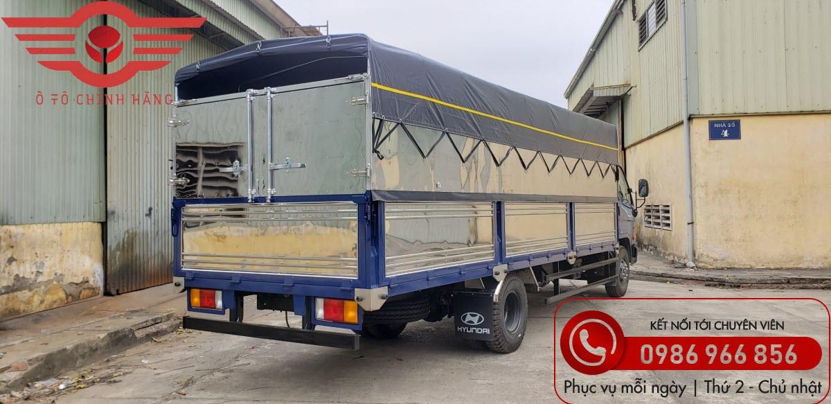 Xe tải Hyundai New Mighty 110XL Thùng Mui Bạt