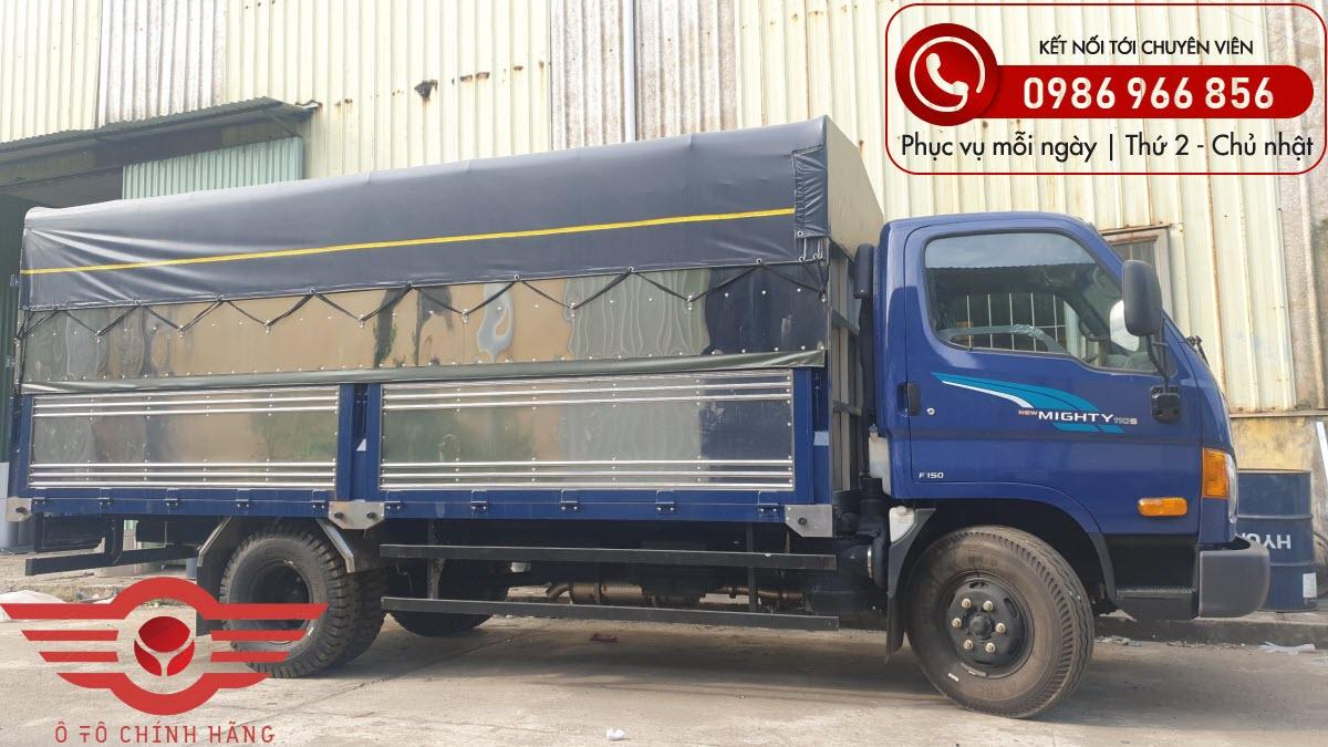 Xe tải Hyundai New Mighty 110XL Thùng Mui Bạt 7 Tấn