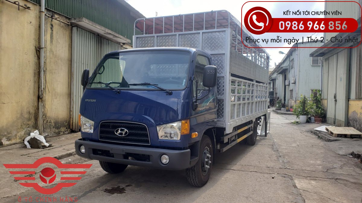 Xe tải Hyundai New Mighty 110XL Chở Lợn 7 Tấn 2 Tầng