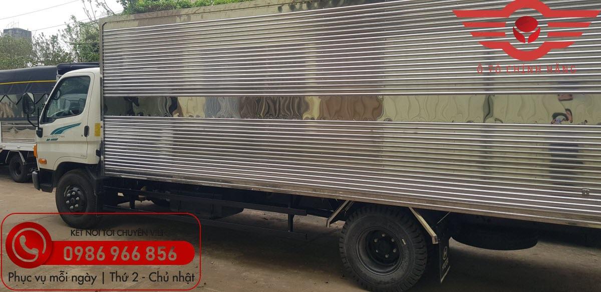 Xe tải Hyundai New Mighty 110XL Thùng Kín INOX